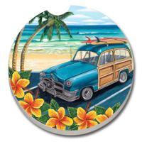 Tropical Beach Car Woody