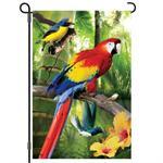 Parrots of Paradise Garden Flag